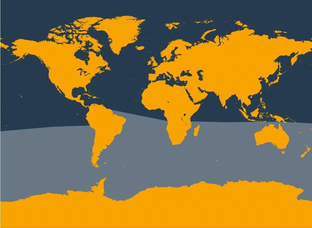 Antarctic minke whale distribution map