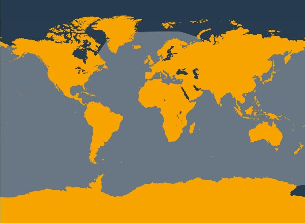 Sperm whale distribution map