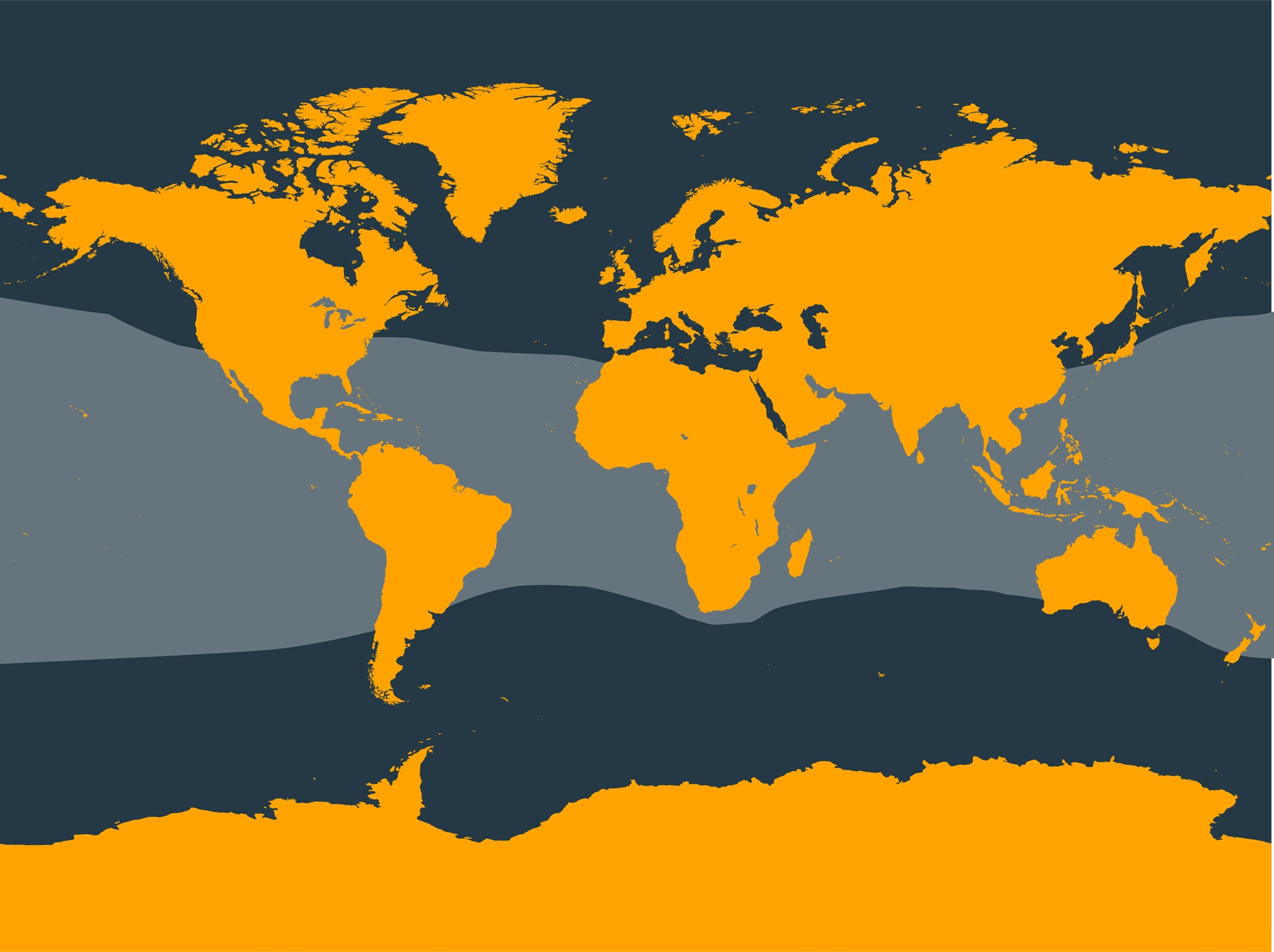 Brydes's whale distribution map