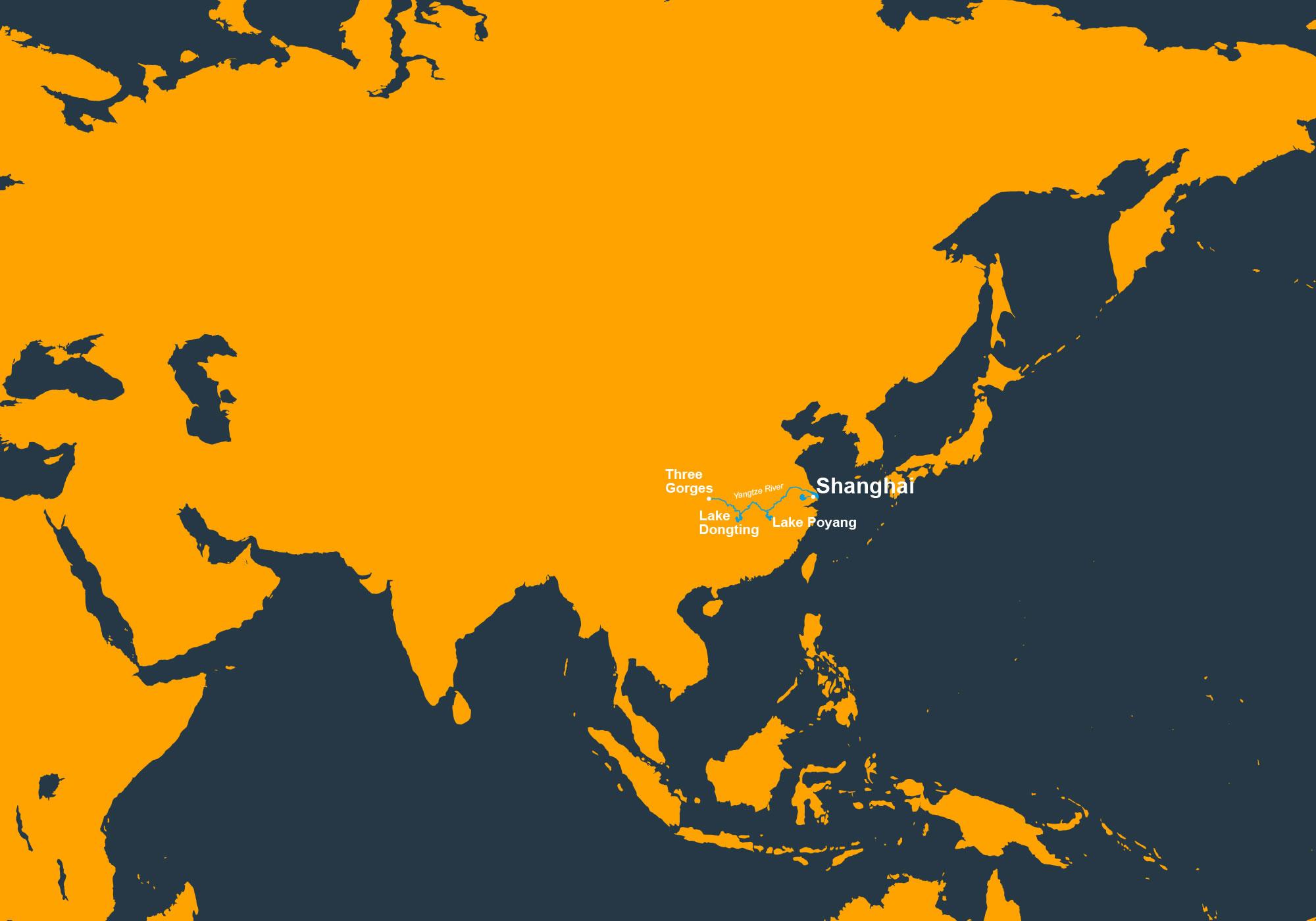Baiji distribution map