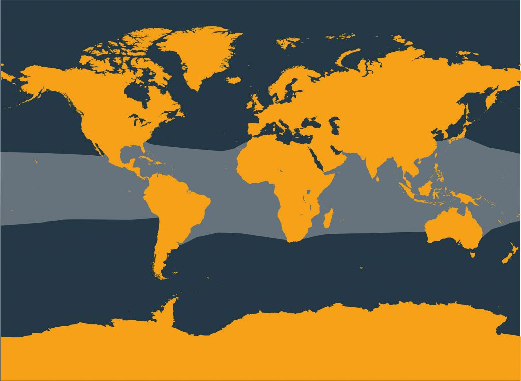 Fraser's dolphin distribution map