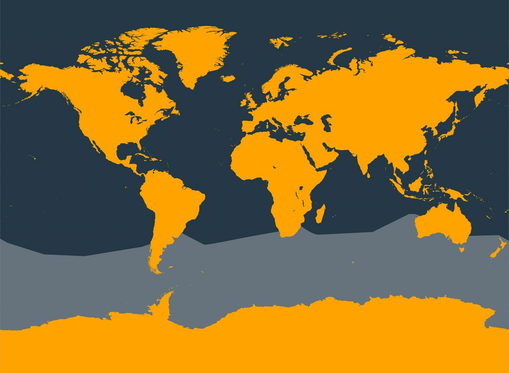 Southern bottlenose whale distribution map