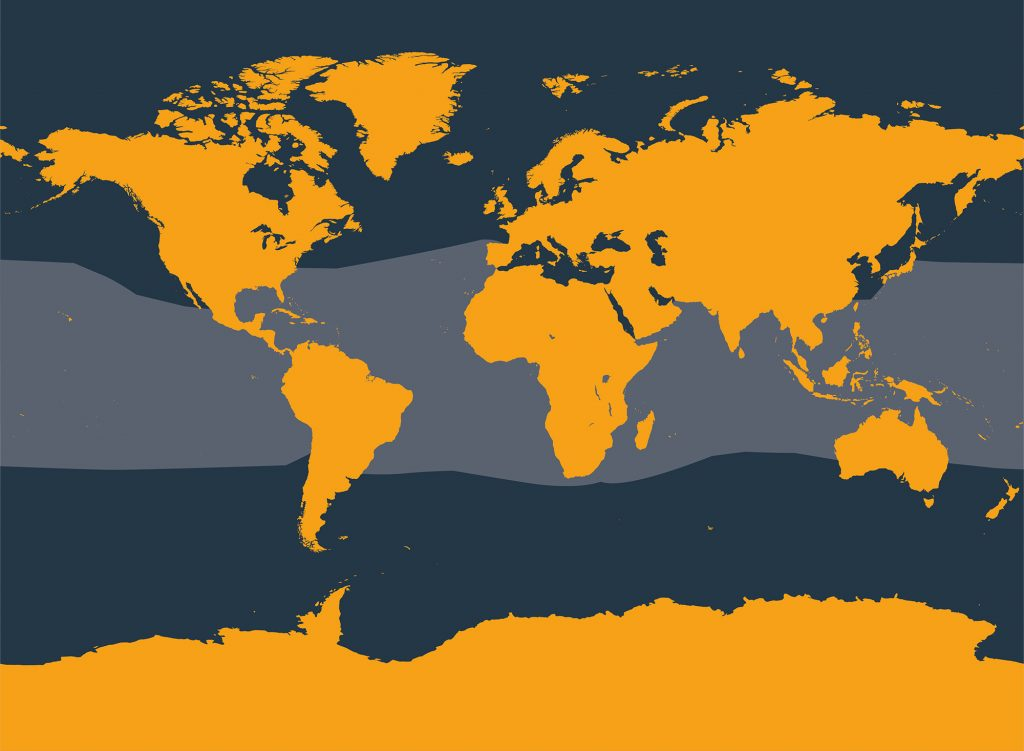 Pygmy killer whale distribution map