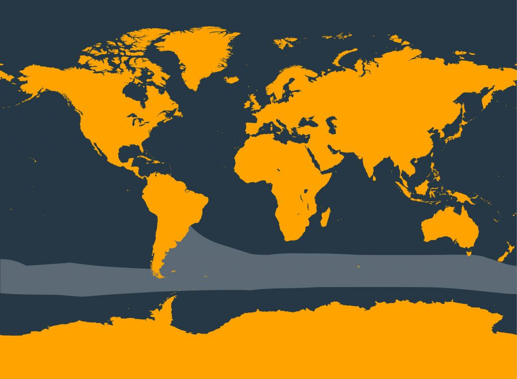 Spectacled porpoise distribution map