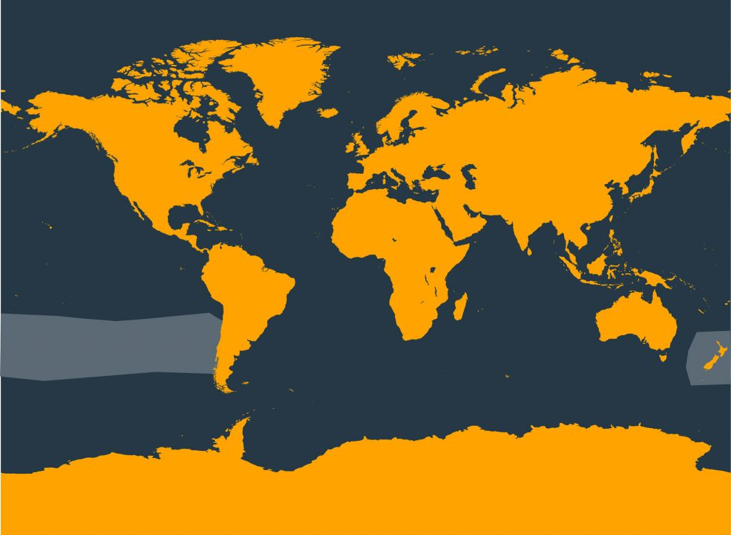 Spade-toothed beaked whale distribution map